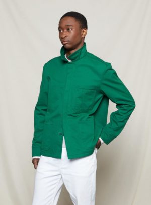 bottle green worker jacket