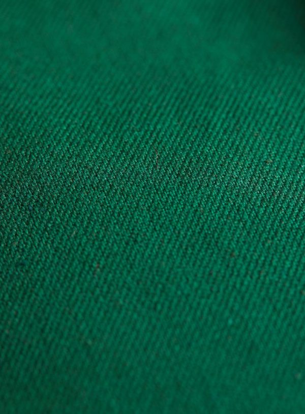 bottle green fabric detail for worker jacket