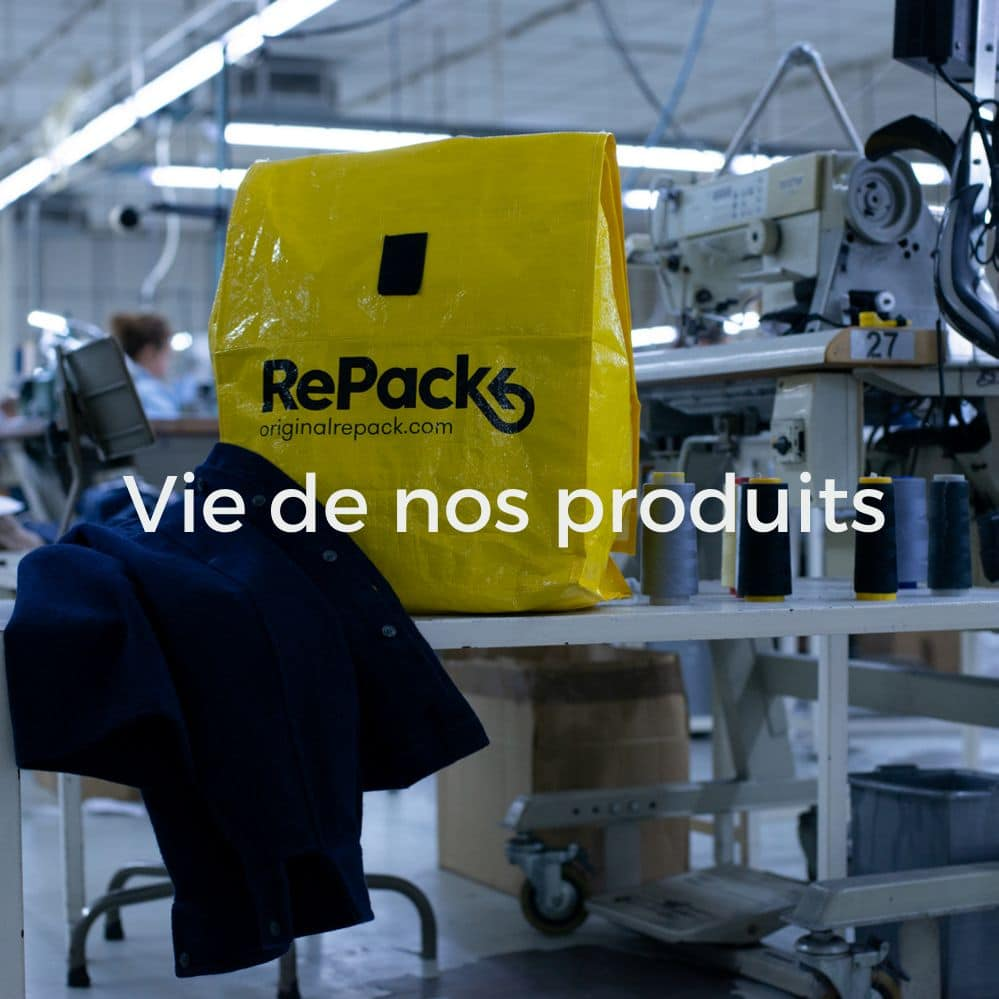 RePack yellow bag on table in garment factory